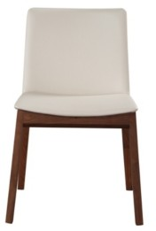 Moe's Home Collection Deco Dining Chair White Pvc-Set Of Two