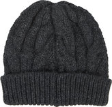 Barneys New York Women's Cable-Knit Beanie-DARK GREY