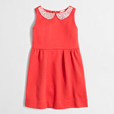 J.Crew Factory Girls' jeweled-collar ponte dress