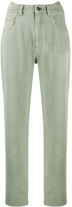 Brunello Cucinelli Layered-Waist Straight Leg Jeans
