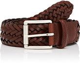 Barneys New York Men's Braided Bridle Leather Belt