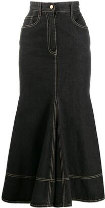 Moschino Pre Owned Denim Mermaid Skirt