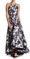 Phoebe Floral Halter Hi-Lo Dress