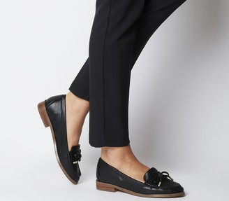 Office Flattered Bow Loafers Black