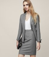 Reiss Austin Skirt - Tailored Pencil Skirt in Grey, Womens
