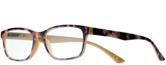 Foster Grant Women's Modera by Larsa Tortoise Rectangle Reading Glasses