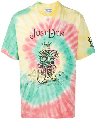 Just Don logo tie-dye print T-shirt