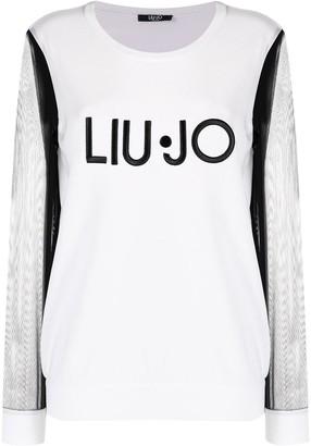 Liu Jo Sheer-Sleeved Jumper