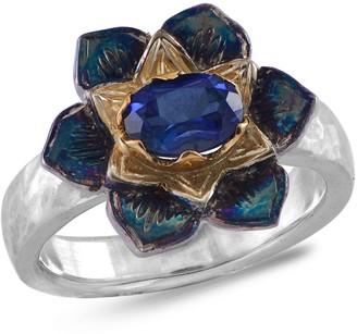 Emma Chapman Jewels Lotus Blue Sapphire Ring