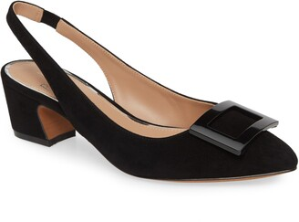 Linea Paolo Baize Buckle Pointed Toe Slingback Pump