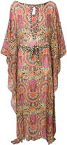 Etro mixed paisley print maxi dress