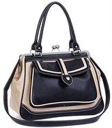 MG Collection Aubrey Vintage Clasp Closure Doctor Shoulder Bag