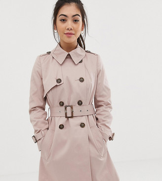 Asos DESIGN Petite trench coat-Pink