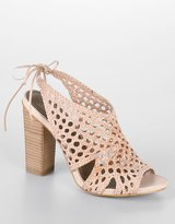 Pat Woven Leather High-Heel Sandals