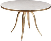 Artistica Crystal Stone Dining Table - White/Gold