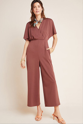 Greylin Vittoria Flutter-Sleeved Jumpsuit By in Blue Size XS