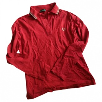 Fred Perry Red Cotton Top for Women