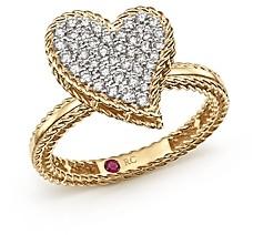 Roberto Coin 18K Yellow Gold Tiny Treasures Diamond Heart Ring