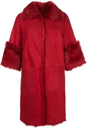 Desa 1972 Shearling Oversized Coat