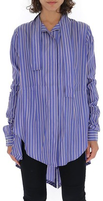 Unravel Project Striped Neck Tie Shirt