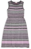 Design History Girl's Cotton-Blend Striped Dress