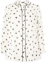 Dorothy Perkins **DP Curve Black Star Print Pipe Shirt