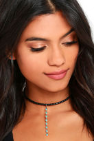 Natalie B Desert Drop Black and Turquoise Choker Necklace