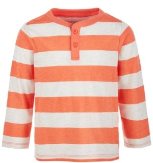 First Impressions Toddler Boys Long-Sleeve Rugby Henley, Created for Macy's
