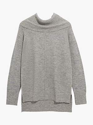 Oasis Sparkly Ottoman Knit Jumper, Mid Grey