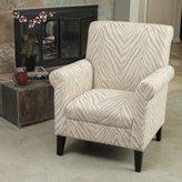 Christopher Knight Home Bigalow Beige Zebra Fabric Club Chair