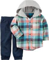 Carter's Toddler Boys Plaid Flannel Hoodie Set