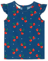 Gucci Heart Cherries Jersey Tee, Navy, Size 3-36 Months