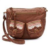 Mudd Crocheted Double-Pocket Crossbody Bag