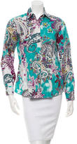 Etro Casual Paisley Print Button-Up