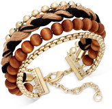 INC International Concepts Gold-Tone Mixed Media Wrap Bracelet, Only at Macy's