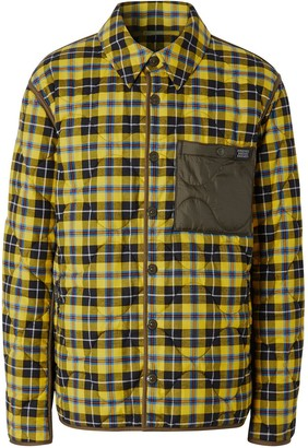 Burberry Check Buttoned Shirt Jacket