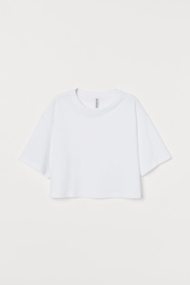 H&M Cropped T-shirt - White