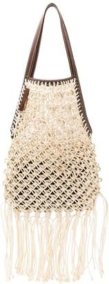 J.W.Anderson Open-Top Macrame Shoulder Bag