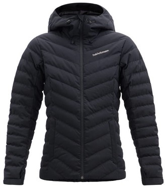 Peak Performance Frost Hooded Quilted Down Jacket - Black