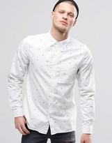 Element Moore All Over Print In Regular Fit In Shirt Bone White