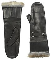 Rudsak Women's Glory Leather Mittens with Fur Cuff