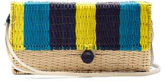 Sophie Anderson Romina Toquilla-straw Cross-body Body - Womens - Blue Multi