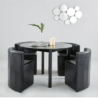 Hideaway 106cm Dining Table + 4 Dining Chairs