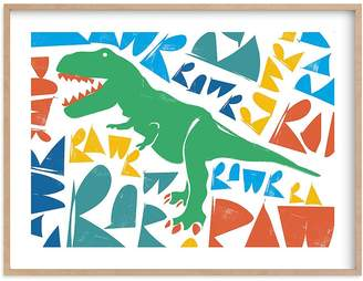 Pottery Barn Kids Trex RAWR! Wall Art by Minted®, 14x11, Black