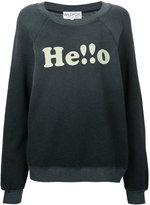 Wildfox Couture Hello sweatshirt - women - Cotton/Polyester - XS