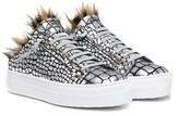 P448 Clara Leather Faux Fur Lined Slip-On Platform Sneaker