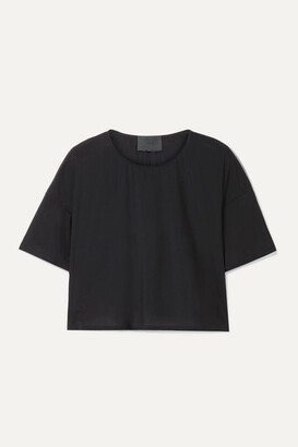 Wone Classic Cropped Stretch-jersey T-shirt - Black
