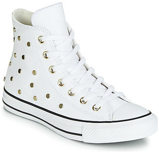Converse CHUCK TAYLOR ALL STAR LEATHER STUDS HI women's Shoes (High-top Trainers) in White