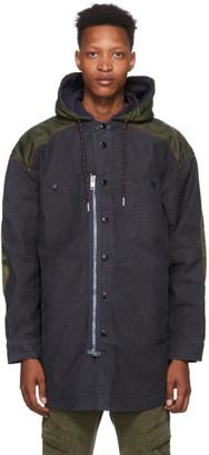 Diesel Blue D Similar Hooded Jacket