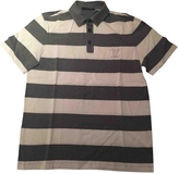 Louis Vuitton Grey Cotton Polo shirt